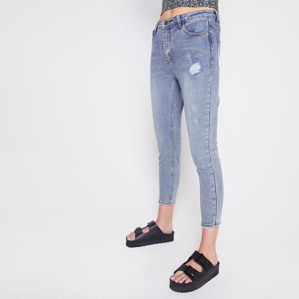 Jeans Tiro Alto Skinny Mujer Freedom image number 4.0