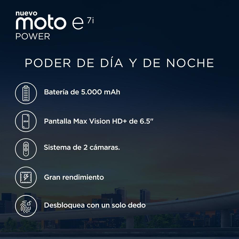 Smartphone Motorola E7i Power Azul / 32 Gb / Movistar image number 2.0