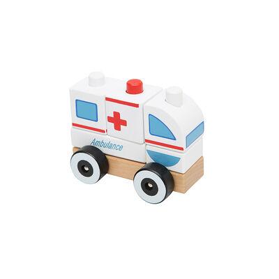 Juguete De Madera Baby Way Ambulancia Bw-Jm10