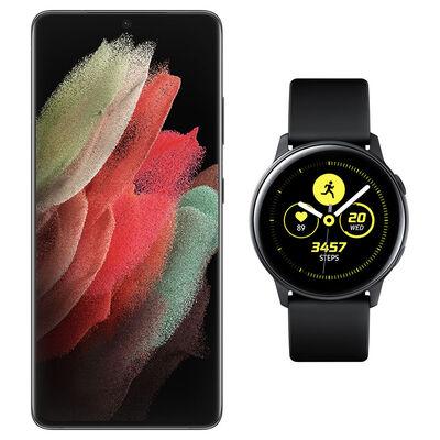 Smartphone Samsung S21 Ultra + Galaxy Active Black