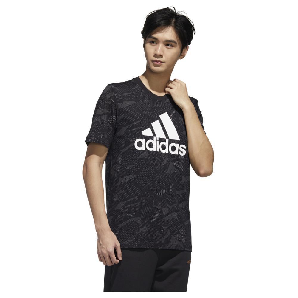 Polera Hombre Adidas Mens Essentials Aop T-shirt image number 3.0