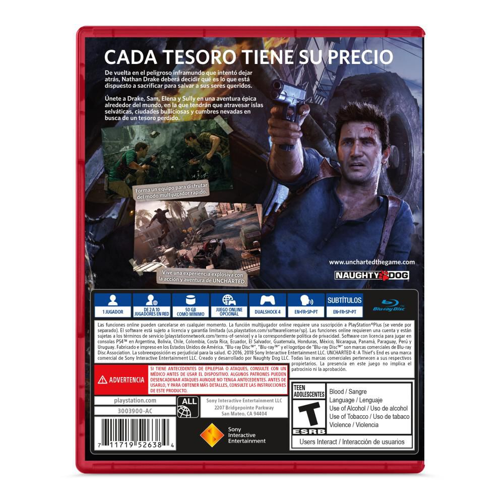 Juego Ps4 Uncharted 4 image number 1.0