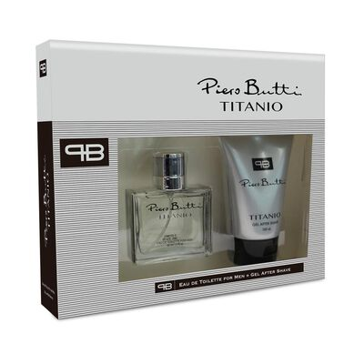 Perfume Titanio Piero Butti / 50 Ml / Eau De Toillete + Gel After Shave