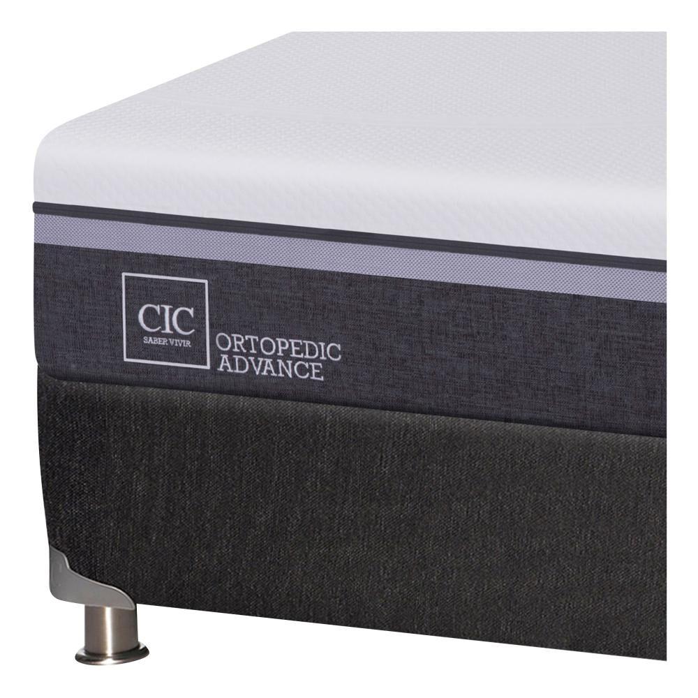 Box Spring Cic Ortopedic / King / Base Dividida  + Set De Maderas + Textil image number 4.0