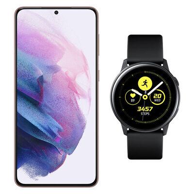 Smartphone Samsung S21 Plus Morado + Galaxy Active Black
