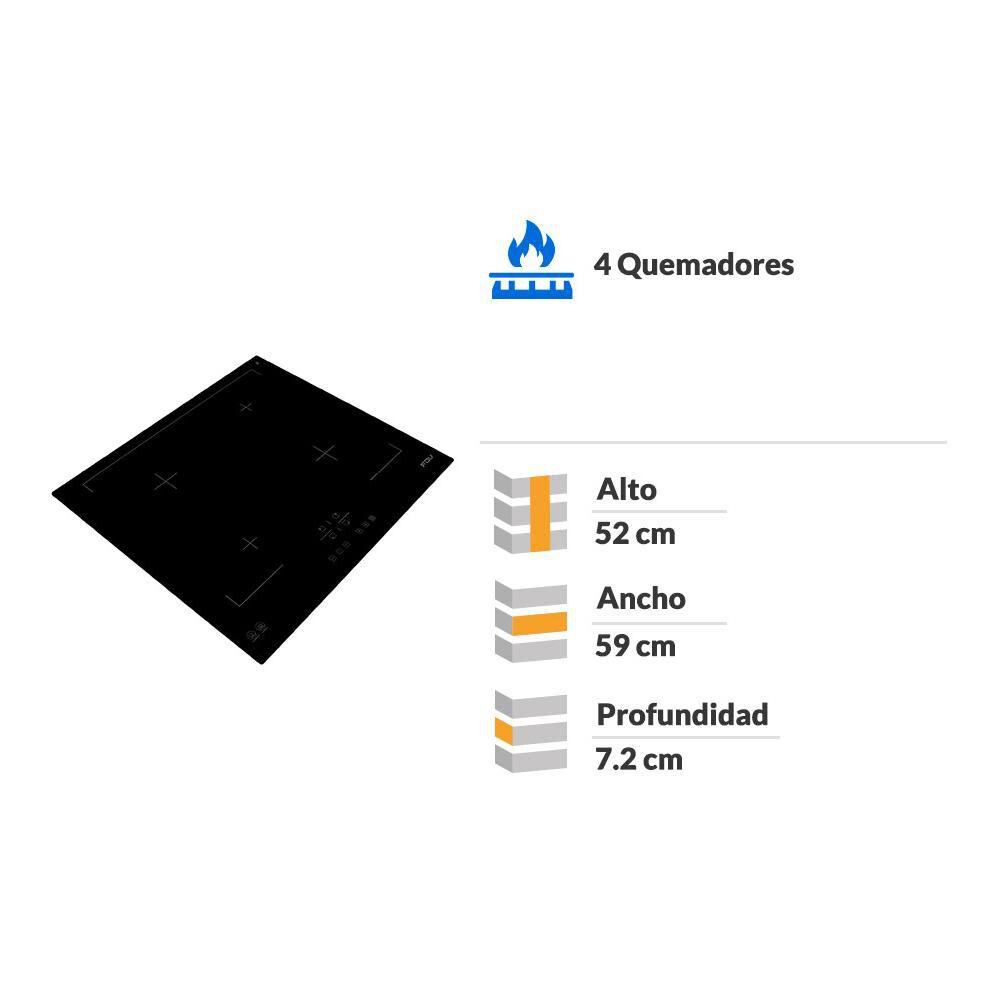 Encimera Inducción Fdv Deluxe 4 Black / 4 Focos image number 1.0