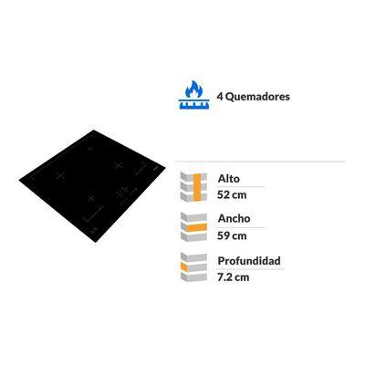 Encimera Inducción Fdv Deluxe 4 Black / 4 Focos