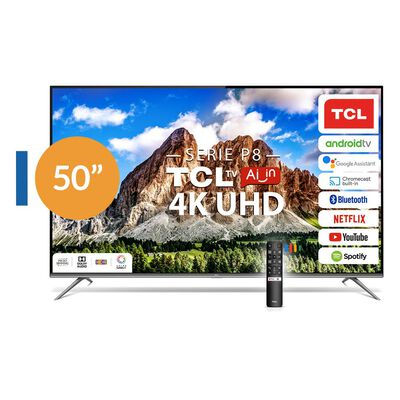 "Led TCL 50P8 / 50"" / Ultra Hd / 4K / Smart Tv"