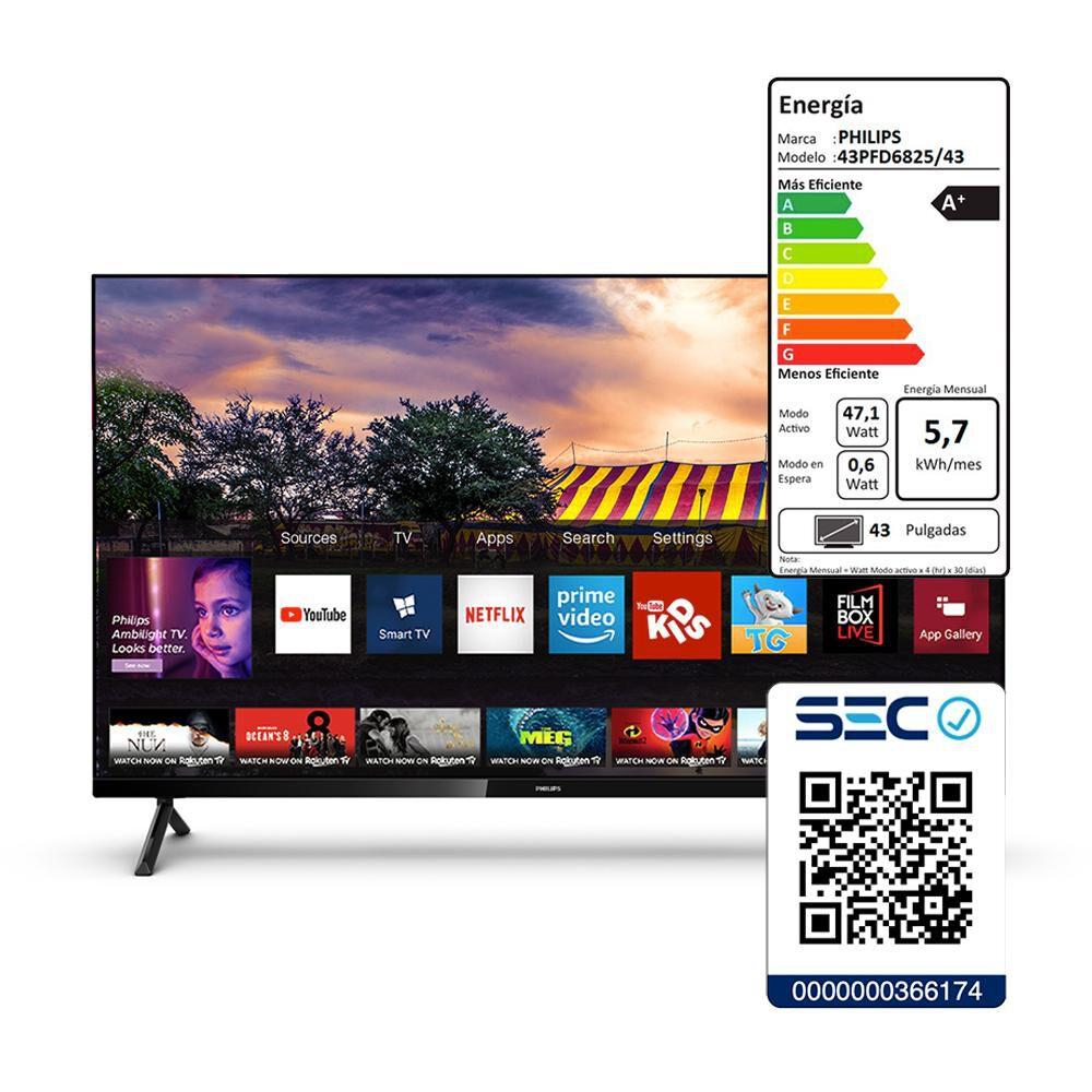 "Led Philips 43PFD6825 / 43"" / Full HD / Smart TV image number 4.0"
