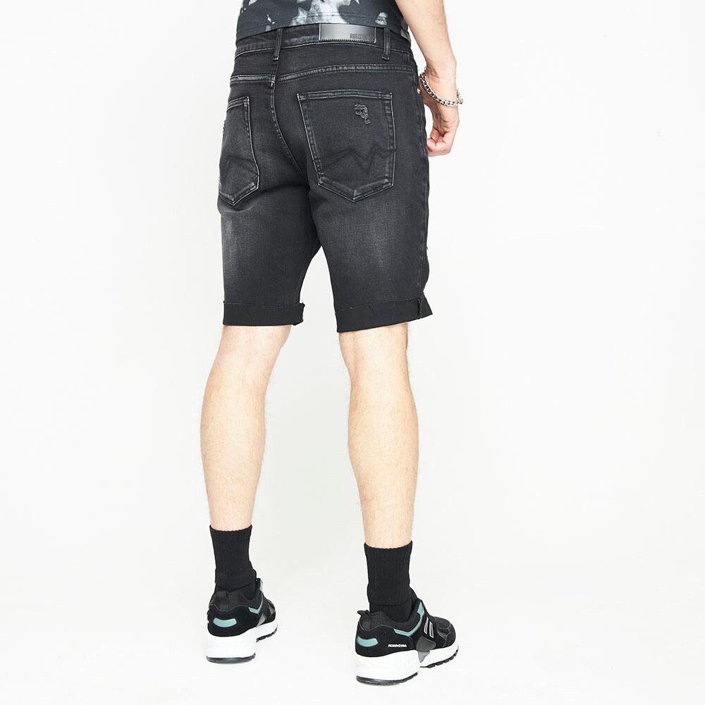 Bermuda Jeans Con Roturas Hombre Rolly Go image number 2.0