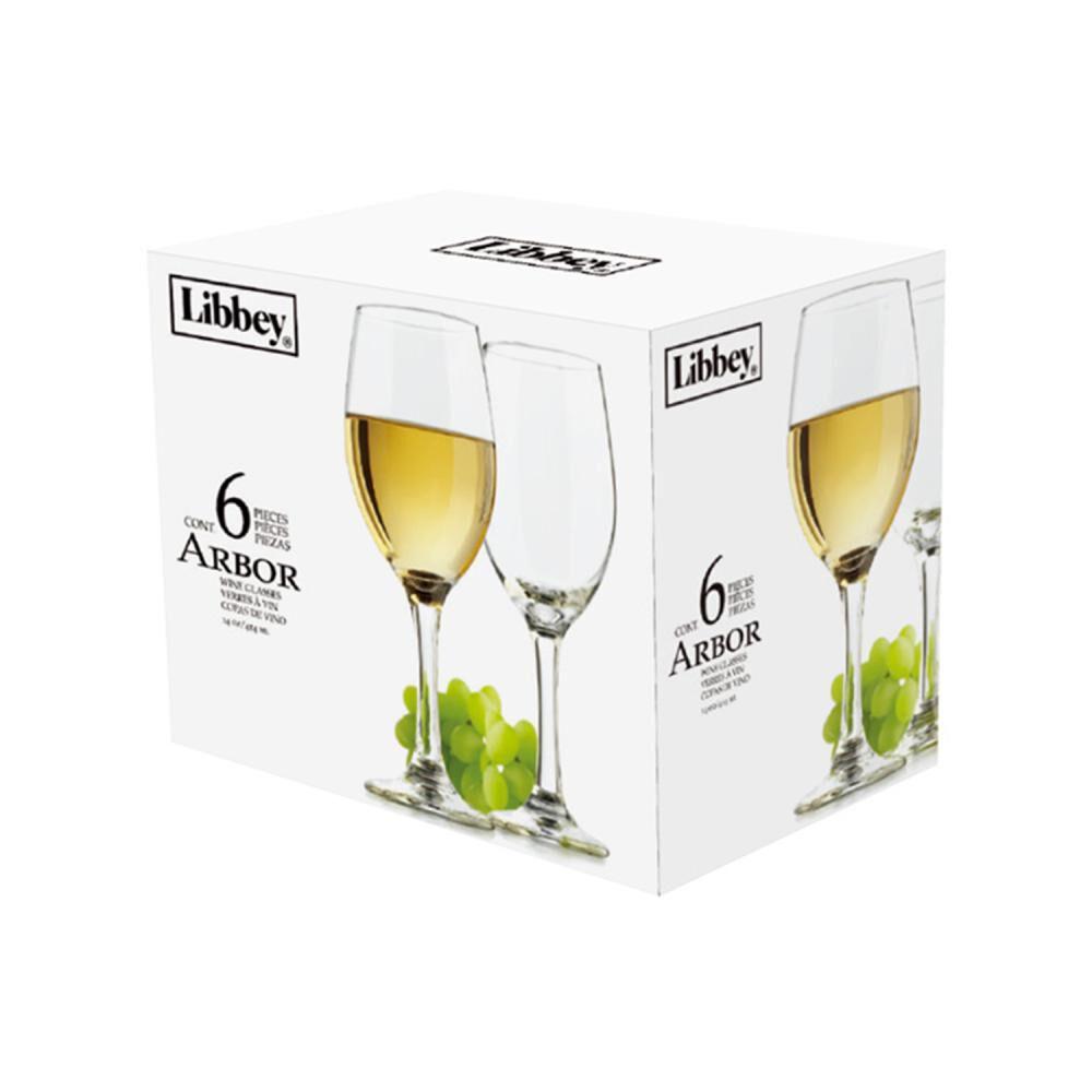 Set De Copas Libbey Arbor Vino 414ml / 6 Piezas image number 4.0