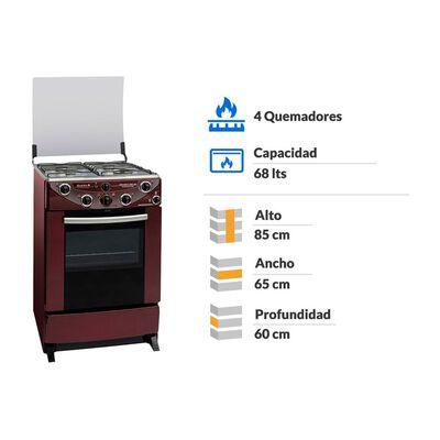 Cocina Sindelen Nova Avanti Ch-9600Rj / 4 Quemadores