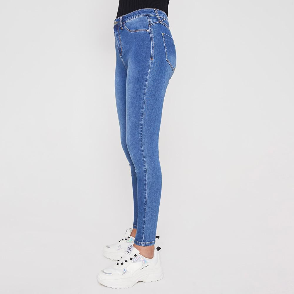Jeans Mujer Tiro Alto Skinny Rolly Go image number 4.0