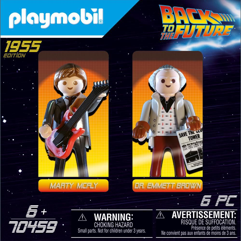 Figura De Acción Playmobil Back To The Future Marty Mcfly And Dr. Emmett Brown image number 0.0