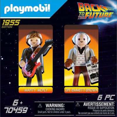 Figura De Acción Playmobil Back To The Future Marty Mcfly And Dr. Emmett Brown