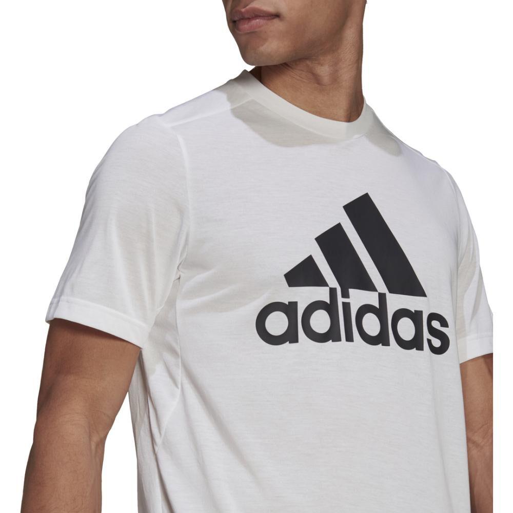 Polera Hombre Adidas D2m Feelready Logo T-shirt image number 3.0