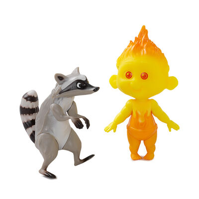Figura De Acción Los Increíbles Jack-Jack Y Racoon