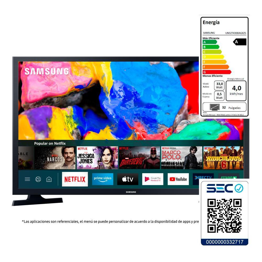 """Led Samsung T4300 / 32"""" / HD / Smart Tv 2020 image number 6.0"""