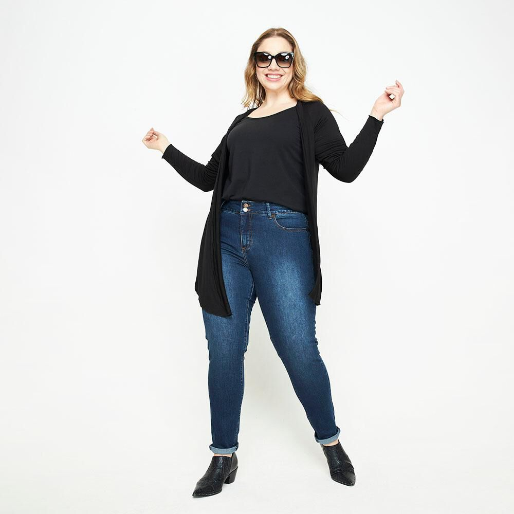 Jeans Jogger Tiro Medio Skinny Mujer Sexy Large image number 1.0
