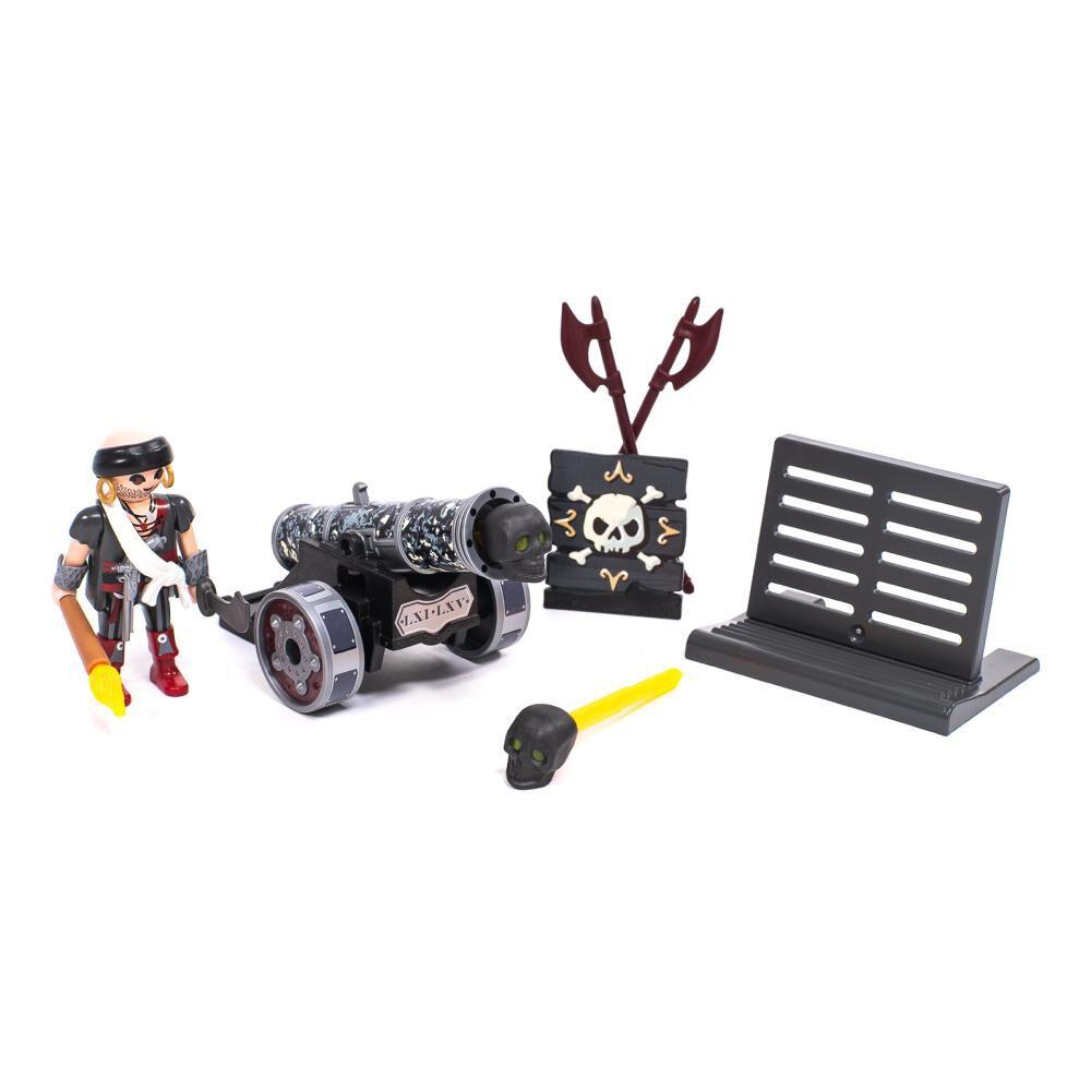 Figura De Acción Playmobil Cañón Interactivo Negro Con Corsario image number 0.0