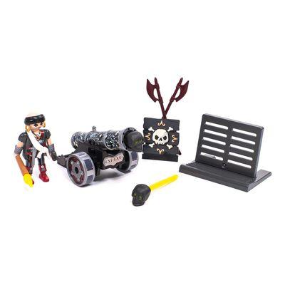 Figura De Acción Playmobil Cañón Interactivo Negro Con Corsario