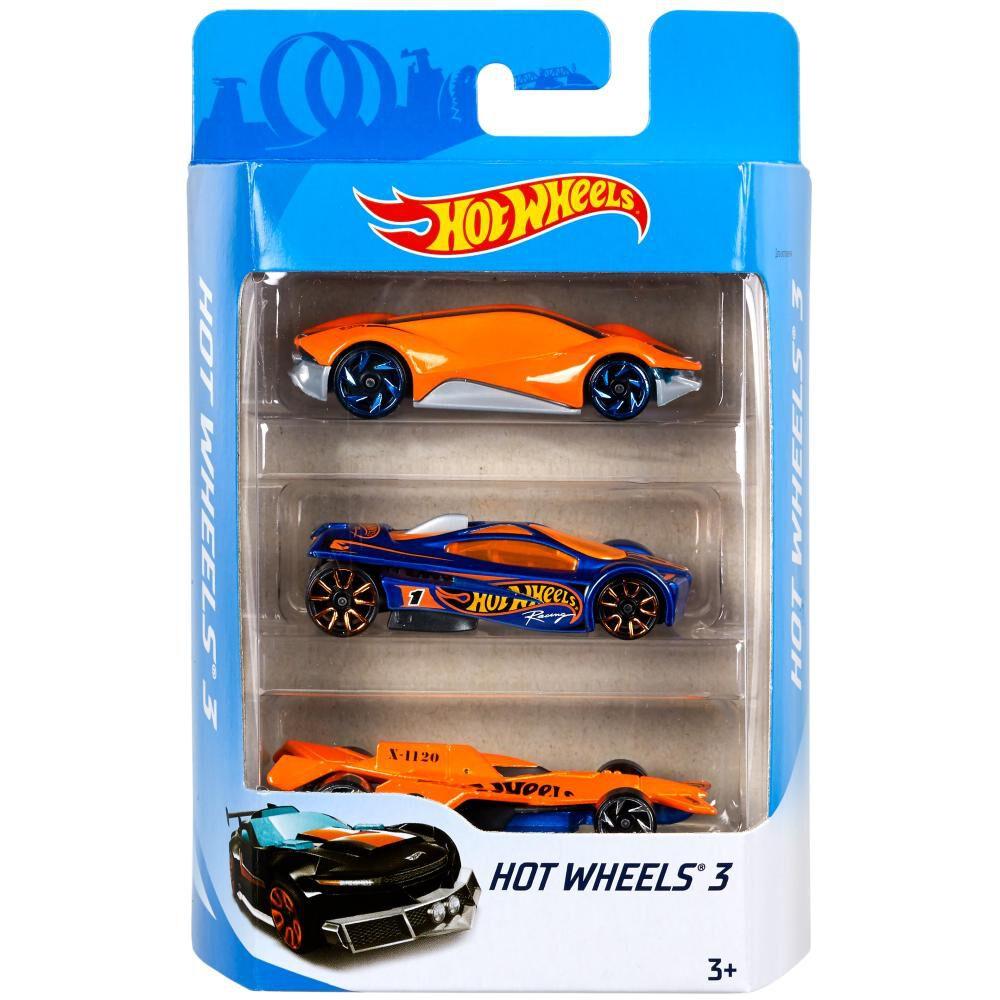 Auto De Juguete Mattel Intl 3-Pck image number 0.0