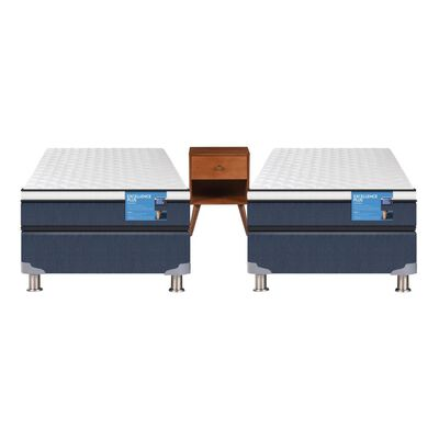 Duplex Cama Americana Cic Excellence Plus / 1 Plaza / Base Normal + Velador