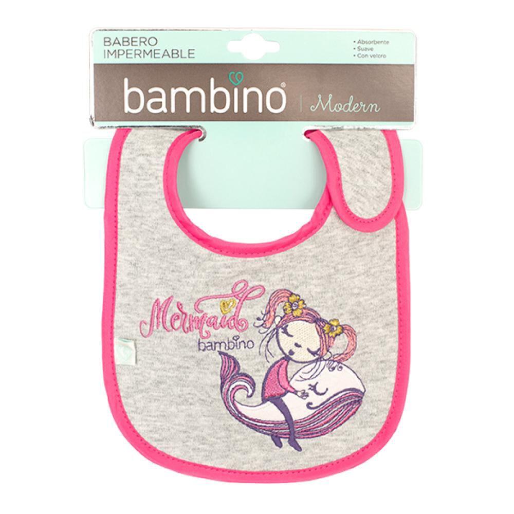 Babero Mermaid Toalla Impermeable Ballena Y Niña Bambino  image number 1.0