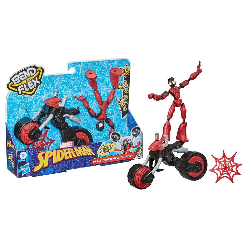 Figura De Acción Spiderman Flex Rider Spiderman image number 1.0