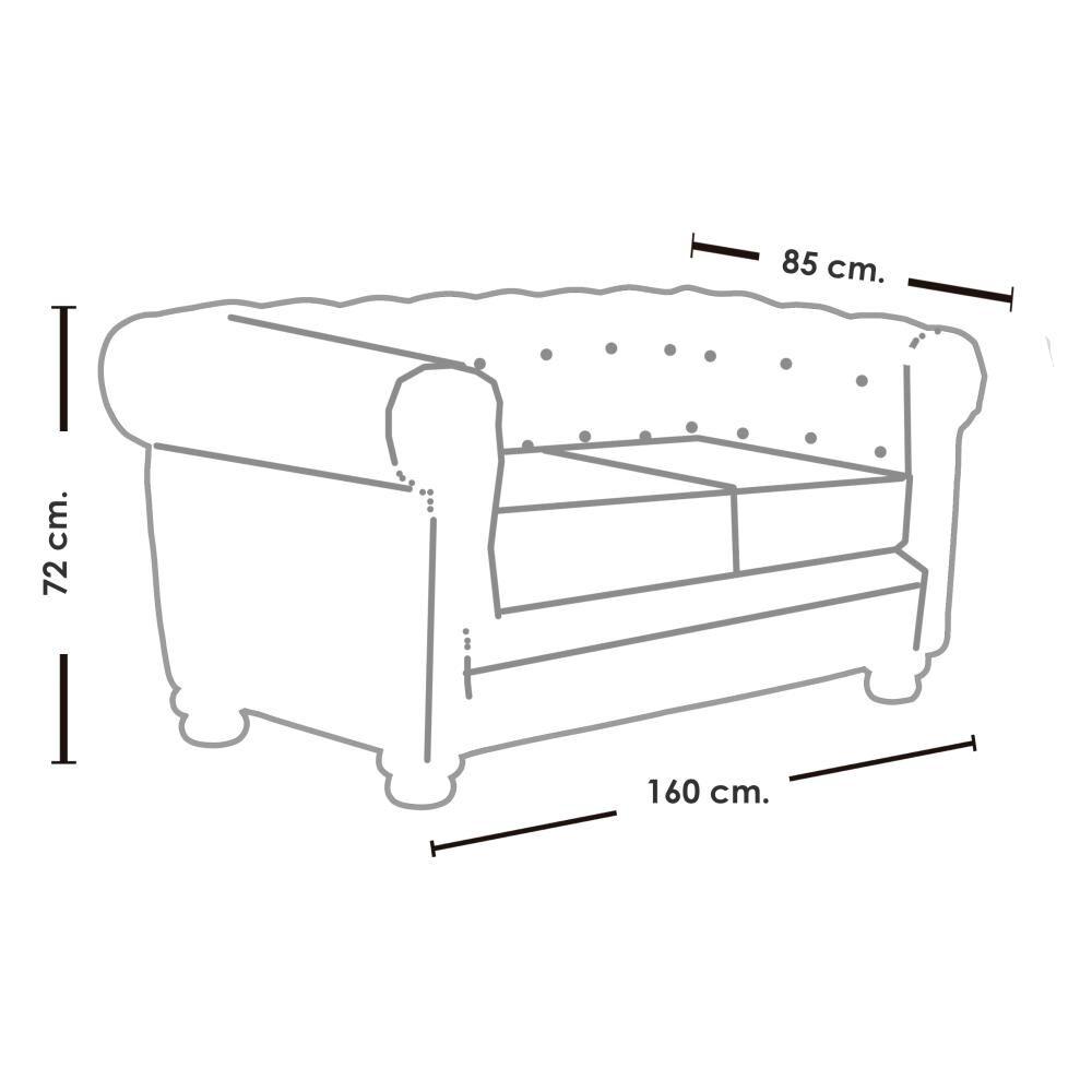 Sofa Mobel Home 2C Cuero / 2 Cuerpos image number 4.0