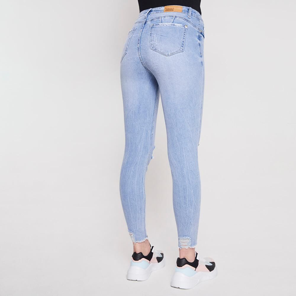 Jeans Mujer Tiro Alto Push Up Super Skinny Freedom image number 2.0