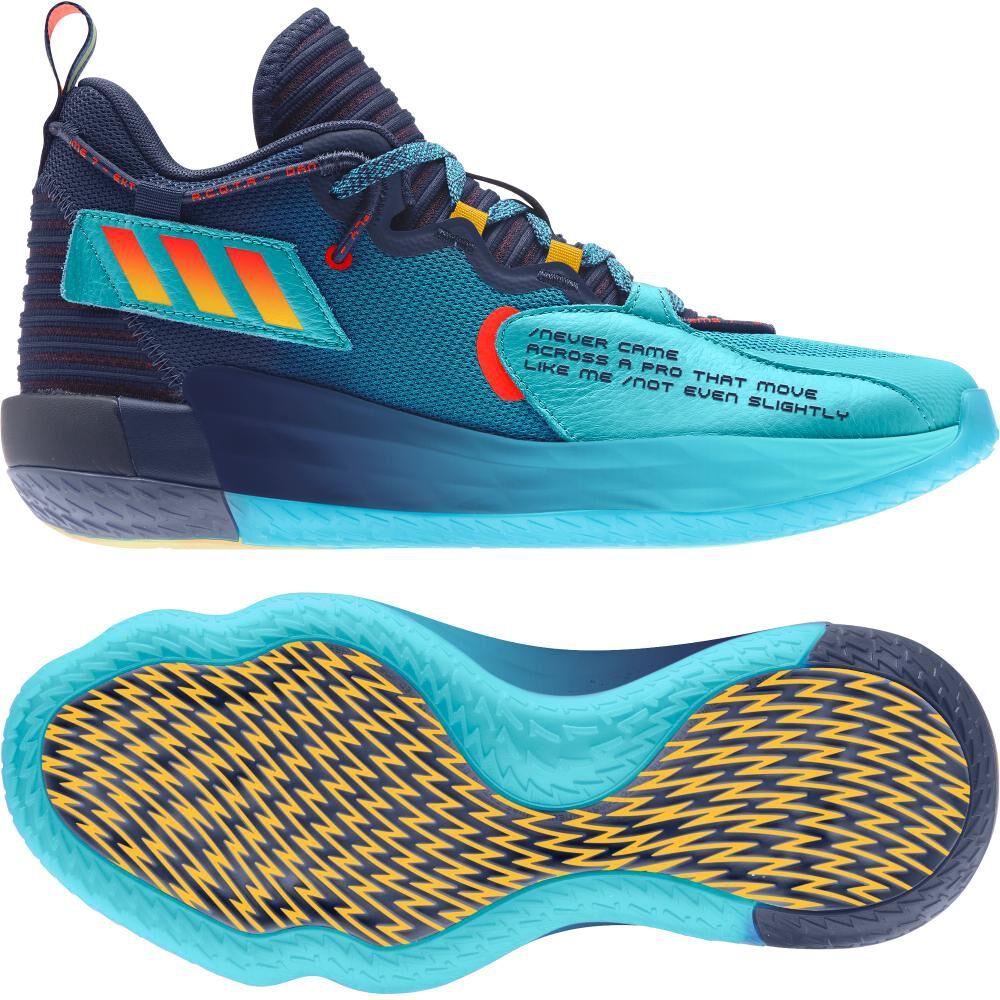 Zapatilla Basketball Hombre Adidas Dame 7 Extply image number 5.0