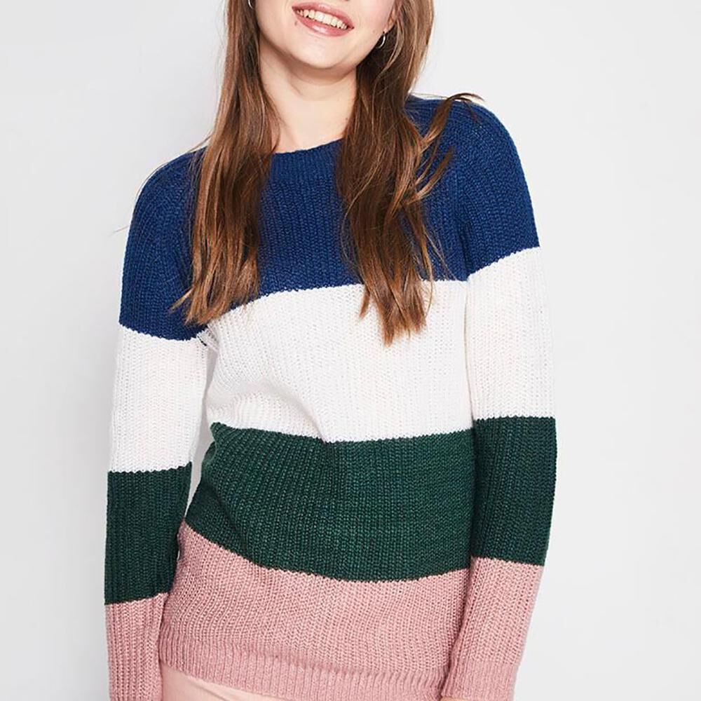 Sweater Bloque Color Mujer Freedom image number 4.0