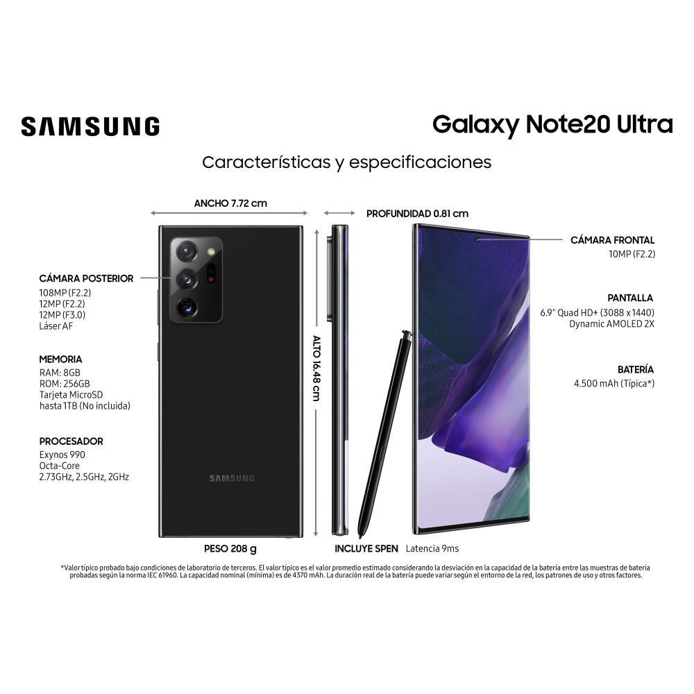 Smartphone Samsung Galaxy Note 20 Ultra 256 Gb / Liberado image number 3.0