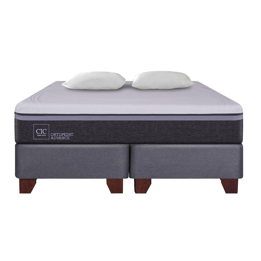 Box Spring Cic Ortopedic Advance / 2 Plazas / Base Dividida + Almohada image number 1.0