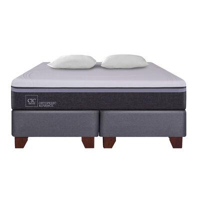 Box Spring Cic Ortopedic Advance / 2 Plazas / Base Dividida + Almohada