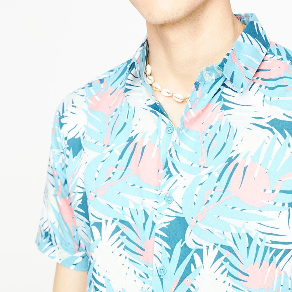 Camisa Manga Corta Con Diseño Hombre Ocean Pacific image number 3.0
