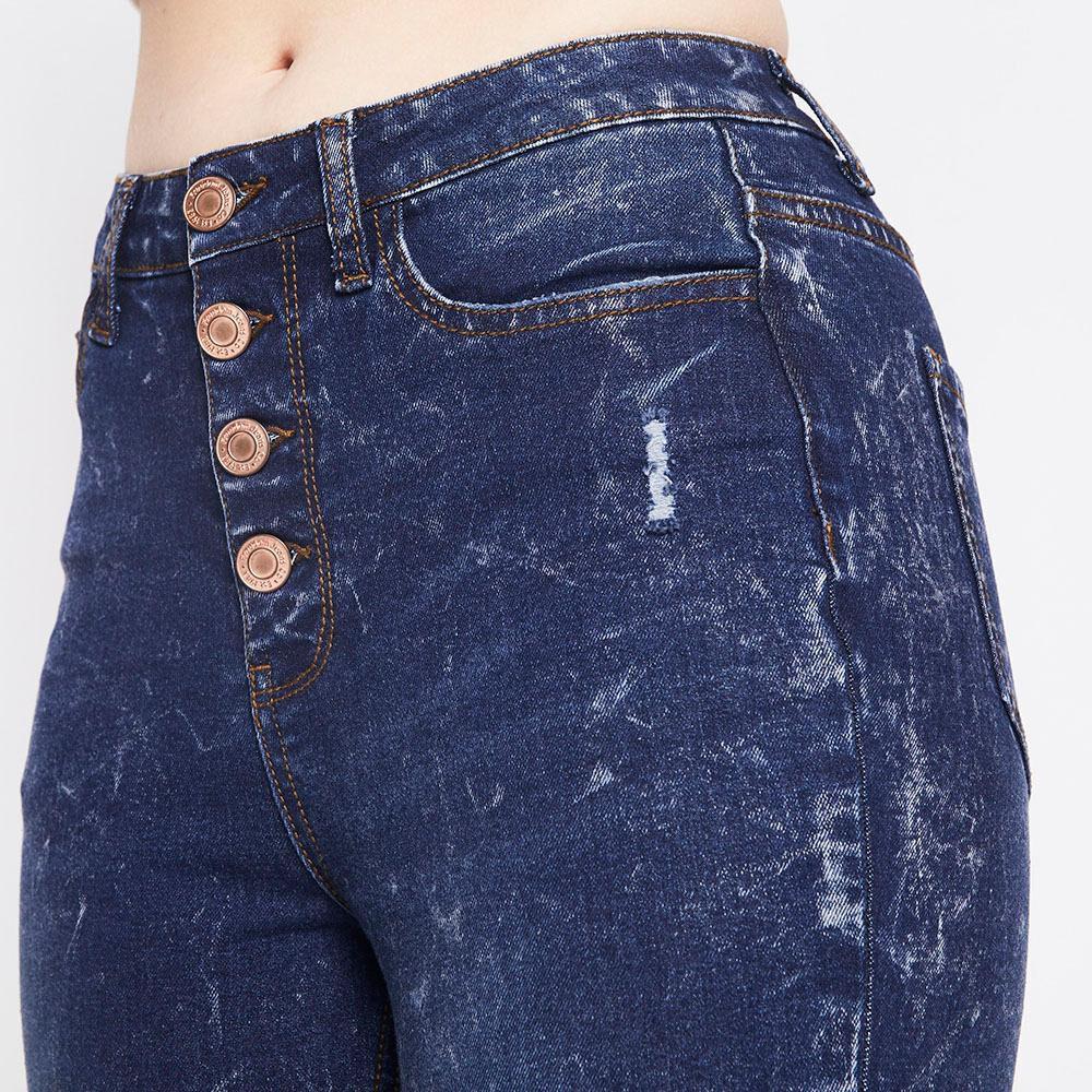 Jeans Tiro Alto Super Skinny Botones Mujer Freedom image number 3.0