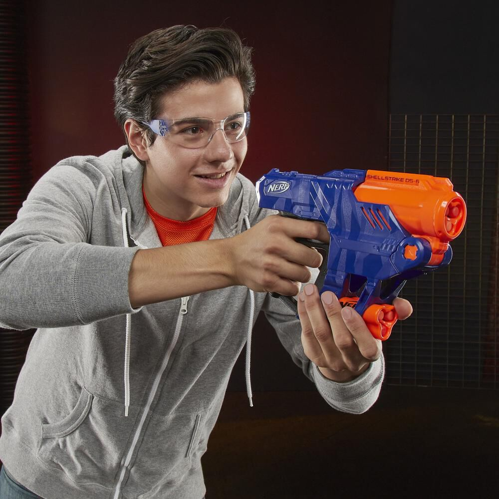 Lanzador De Dardos Nerf Elite Shellstrike Ds-6 image number 4.0