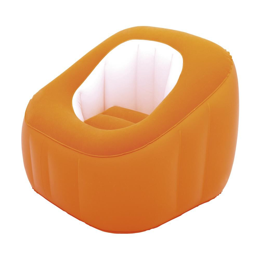 Sillón Inflable Bestway Comfi Cube Naranjo image number 0.0