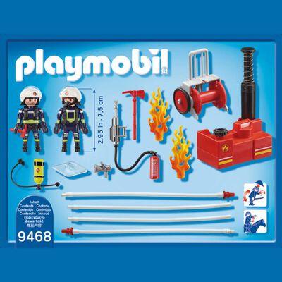Figura De Acción Playmobil Bomberos Con Bomba De Agua
