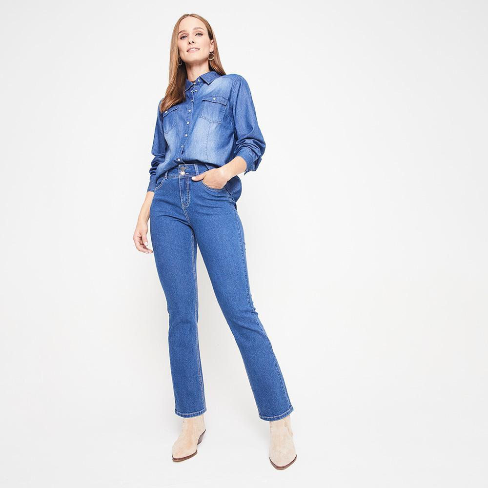 Jeans Mujer Tiro Alto Regular Geeps image number 5.0