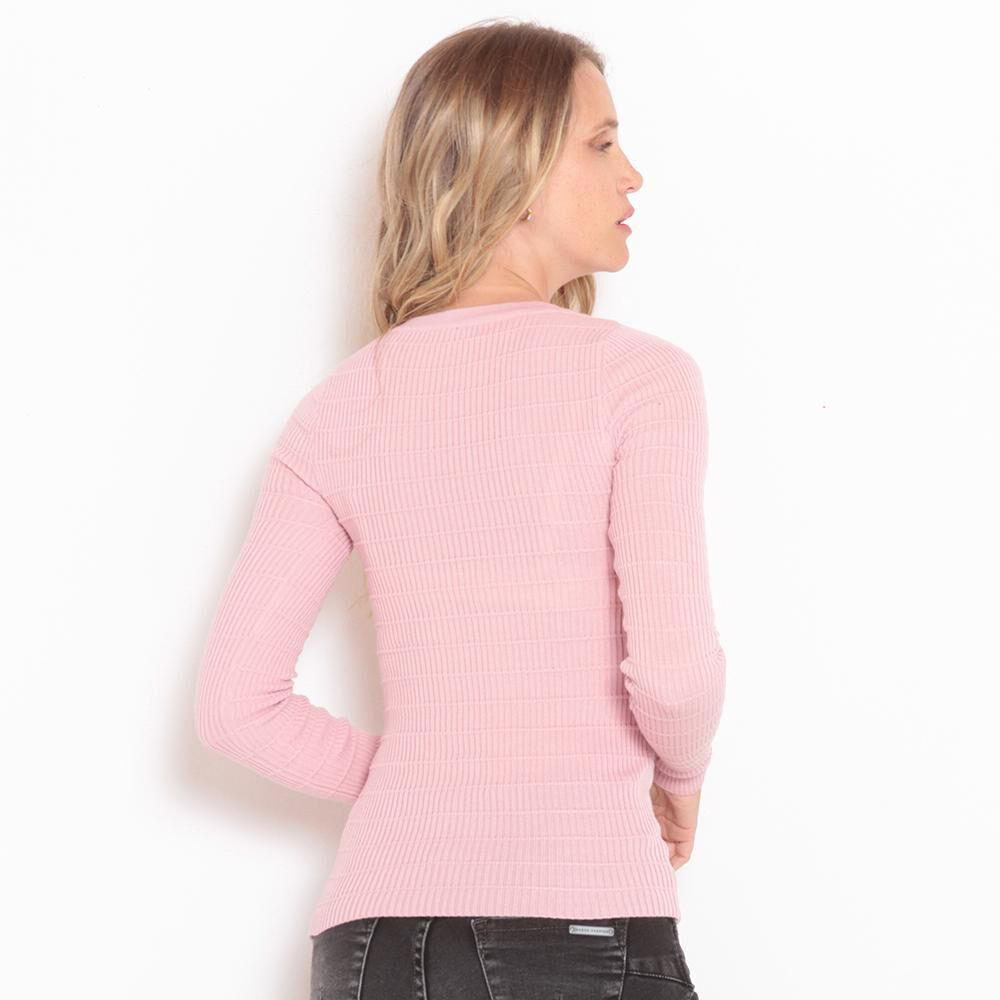 Sweater Liso Cuello V Mujer Wados image number 3.0
