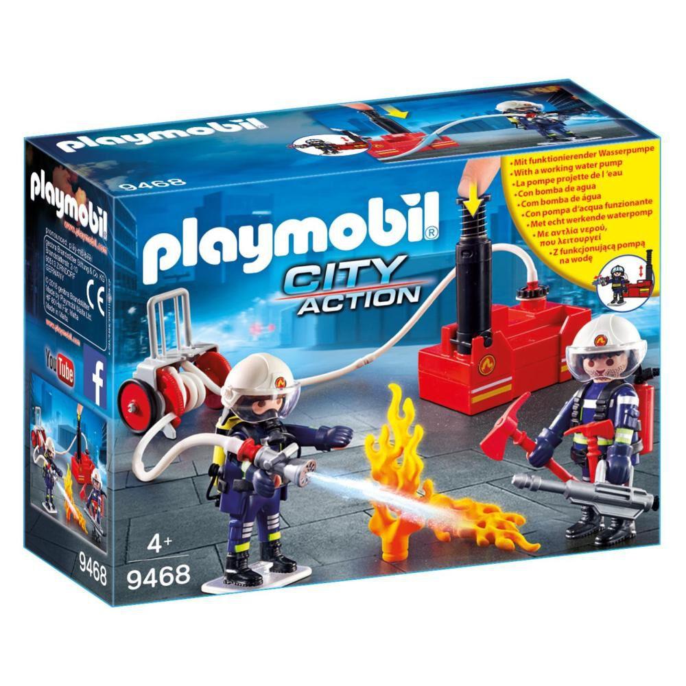 Figura De Acción Playmobil Bomberos Con Bomba De Agua image number 0.0