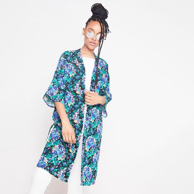 Kimono Largo Estampado Mujer Rolly Go