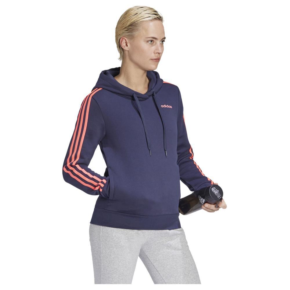 Poleron Deportivo Mujer Adidas Essentials Fleece 3s image number 5.0