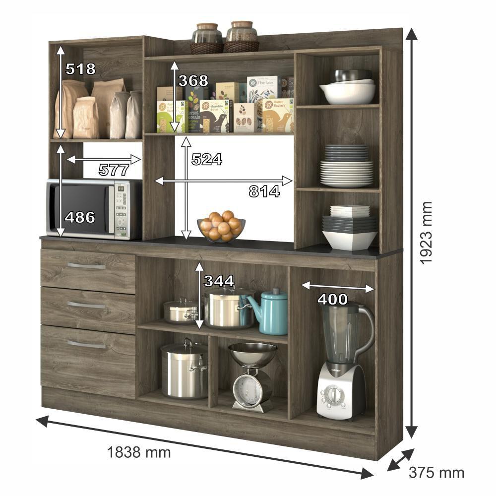 Mueble De Cocina Casaideal Tamara  / 7 Puertas    / 3 Cajones image number 2.0