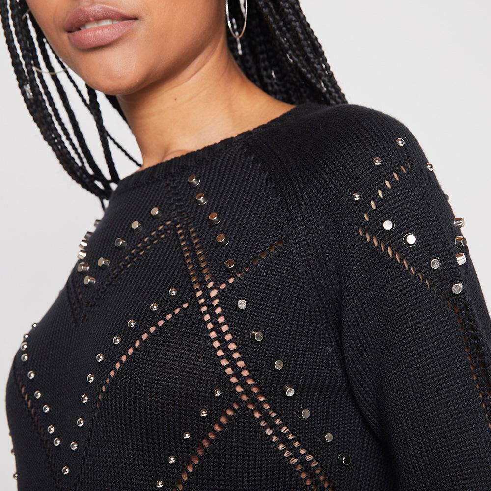 Sweater Tejido Con Tachas Mujer Rolly Go image number 3.0