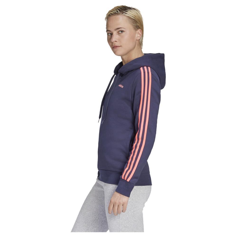 Poleron Deportivo Mujer Adidas Essentials Fleece 3s image number 4.0