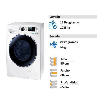Lavadora-Secadora Samsung WD10J6410AW 10.5/ 6 Kg